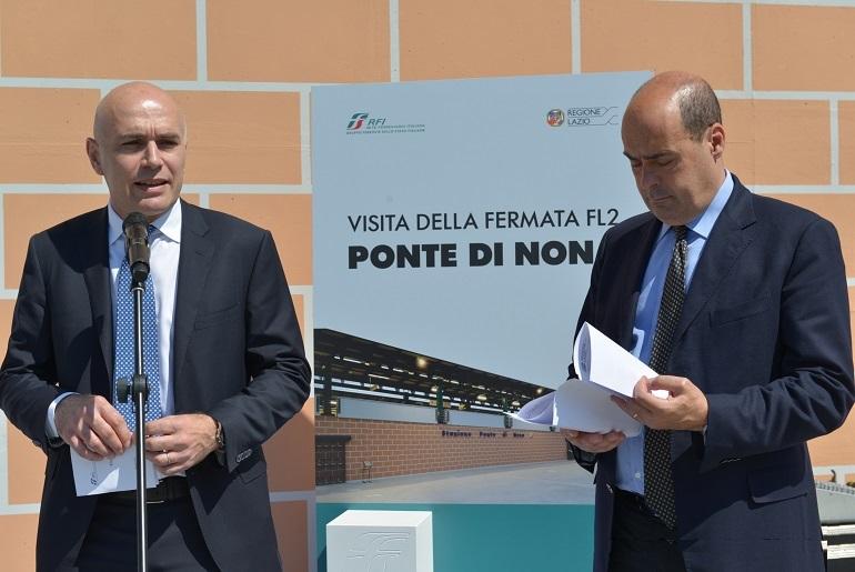 Raddoppio della FL2, il Presidente Zingaretti in visita alla nuova stazione di Ponte di Nona. Prossime tappe gli scali di Bagni e Guidonia