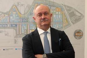 Marco Rettighieri, il nuovo general manager constructions di Expo 2015, durante la conferenza stampa che si Ë tenuta a Milano per presentare l'accordo fra Expo 2015 ed Italferr, 6 agosto 2014. ANSA/MATTEO BAZZI