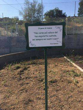 Guidonia, un parco per ricordare il piccolo Valerio
