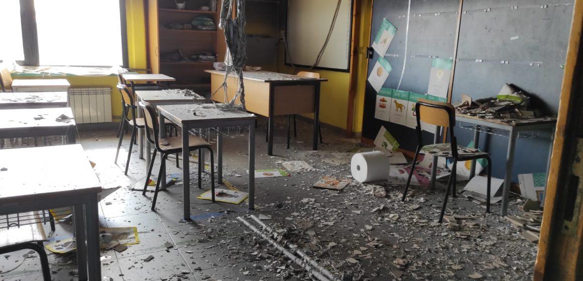 Incendio all'istituto Manzi di Villalba