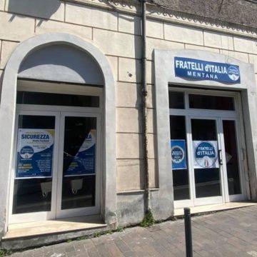 Mentana, danneggiata la sede di Fratelli d'Italia