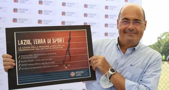 Lazio, Zingaretti: 8 milioni per lo sport